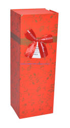 자석 마감 주문 로고 안쪽에 카드 종이를 가진 최신 각인 적포도주 선물 상자 단 하나 병은 Zhuhai OEM 좋은 품질 저가를 포장하는 저장을%s 인쇄했다