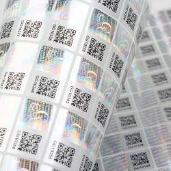 Contrassegno adesivo dello strato dell'autoadesivo di codice di obbligazione dell'ologramma di Anti-Falsificazione su ordinazione 3D