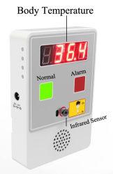 Médico de infravermelhos fronte eletrônico e punho da temperatura corporal dos Sensores do controlador móvel portátil Caixa pendurada caixa térmica Termômetro