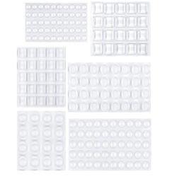 투명 접착 범퍼 패드(원형, 구형, 사각형) - 방음 완충 투명 고무 받침 캐비닛 문, 서랍, 유리 상의
