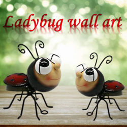 栄光の錬鉄のかわいいてんとう虫の壁の装飾の中国のSino製造者