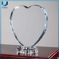K9 Decoração de Cristal Branco define com logotipo da gravura de casamento de vidro por sublimação de loja de presentes, personalizar o prêmio do logotipo da Taça
