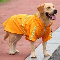 Design exclusivo de venda quente PU reflectem a luz roupas Raincoat Pet Vestuário Pet