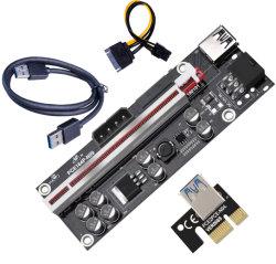 009s Plus PCI-E переходной платы 009s Plus 1 Pcie X 16X СВЕТОДИОДНЫЙ ИНДИКАТОР 0,6 м USB 3.0 2*6 штифта и 4-контактный дна стабильной переходная плата PCI-E
