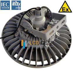 LED haute puissance 100 W pour la grande région de la baie de luminaires Projecteur d'éclairage intérieur Extérieur Zone dangereuse ordinaire industriels en aluminium moulé Baie basse Ex LED