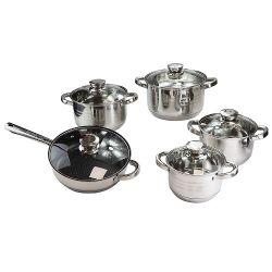 Cooking Pot Produttore 10PZ. Set di pentole in acciaio inox