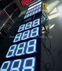 3 손가락 8.88 화면 출력 형식 LED 주유소 가격 전시