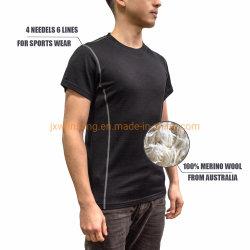 Merino Lightweight Shirt Australian Merino Wool Jersey Herren Kurzarm Sport T Shirt aus China Hersteller