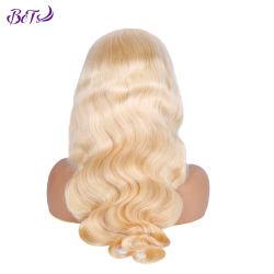 Haute qualité 613 dentelle perruque blonde cheveux humains frontale avant perruque de dentelle pour la mode Lady