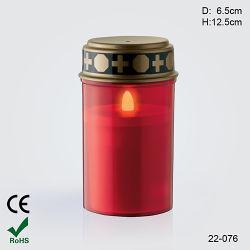O LED de energia solar de alta qualidade Grave Grave/Luz de Vela Velas religiosas (22-076)