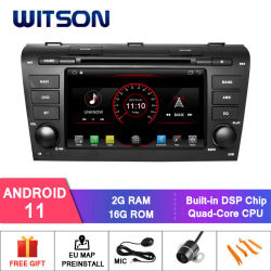 Witson 쿼드 코어 Android 11 차량용 DVD GPS, Old Mazda 3 2g DDR3 RAM 메모리