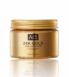 떨어지게 하는 개인 상표 아름다움 피부 관리는 자연적인 24K 금을 희게해서 가면을 벗긴다