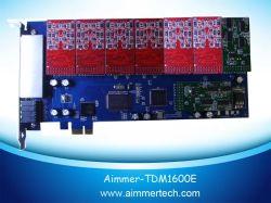 Tdm1600e 16 FXO/FXS PCI-Eの星じるしカードサポート星じるし/Trixbox /Elastix