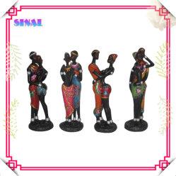 Figurine en résine noire Polyresin Negro, Statue de poupée
