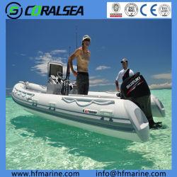 Velocità-Sport della vetroresina del motore esterno di 5.2m 17FT rigido/peschereccio gonfiabile della nervatura con la sezione comandi concentrare