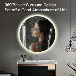 Dekorativer der Wand-LED intelligenter heller Antinebel Badezimmer-des Spiegel-LED mit Bluetooth