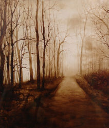 Peinture d'huile de la forêt pour la décoration d'accueil