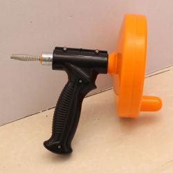 Nettoyeur de vidange de 15 Ft Câble de l'outil de serpent de plomberie tuyau d'égout de sabot de nettoyage de vis de vidange