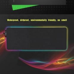 カスタムカラー堅い白熱輝いたベルトのゲームRGBの軽いマウスパッドの無線充満マウスパッド