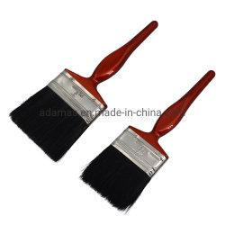 Spazzola con manico in plastica con setole nere pure 31904