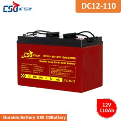 Csbattery 12V110ah аккумулятор свинцово-кислотные AGM аккумулятор для Solar-Usage/Outdoor-Systems/LED/лампа