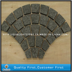 Дешевые G684 природного гранита асфальтирование камня / вымощены булыжником камня / флаг камня