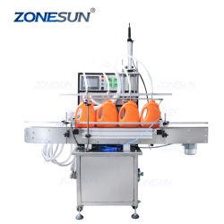 Zonesun Full automatic Detergentes para máquinas de suco de óleo comestível de Óleo da Bomba de diafragma de licor máquina de enchimento
