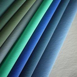 絹のFlanneletteによってマーセル加工されるビロードのしまのあるビロードPUの総合的な革衣類ファブリック織物