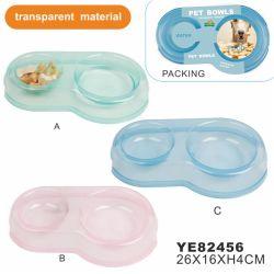 Pet plástico de colores cuenco, tazón de comida para perros (YE82456)