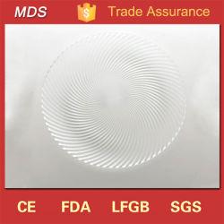 Le Swirl en verre clair métal élégant chargeur de plaque de décoration de table