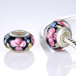 Les perles de verre de Murano avec 925 Sterling Silver Bracelet de base