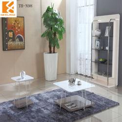 Foshan Newland ,Livign muebles habitación Mesa De Café ,moderno MDF de alto brillo y Acero Inoxidable mesas de café (TB-N98)