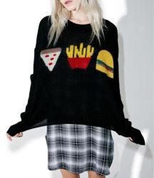 2017 Зимой Леди жаккард трикотажных изделий Pullover свитер короткий мода