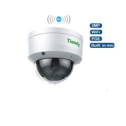 ميكروفون كاميرا IP بدقة 1080p وبتقنية PoE مدمج بتقنية الأشعة تحت الحمراء الثابتة بدقة 2 ميجابكسل نظام أمان لاسلكي لنظام الرؤية الليلية عبر تقنية WiFi Dome في الداخل عند إجراء P2P كاميرا CCTV
