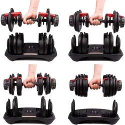 熱いホーム体操のトレーニングの重量装置の適性のスポーツ用品のKettlebellゴム製十六進Dumbellの調節可能なダンベルセット