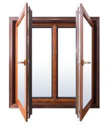 Alumínio Vidro duplo de alta qualidade/Metal Alumínio Casement/vidro corrediço da porta/Design da grade de ferro