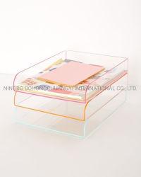 Les organisateurs de papier transparent en acrylique Desktopshelves bac de fichier