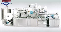 Tecido molhado colocação manual da máquina equipamentos para produção de toalhetes húmidos