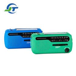 긴급 Sos 태양 수동 크랜크 LED 플래쉬 등 휴대용 태양 다이너모 라디오