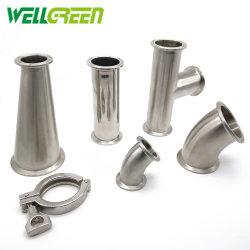 Raccordo per tubi in acciaio inox per vendita a caldo con SMS standard, DIN, 3A, ISO, IDF, BS