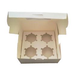 Papier Kraft alimentaire personnalisé de quatre oeufs grille Tart Box Boîte Cupcake avec fenêtre