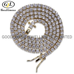 Fashion Accessoires 3mm 18 inch Tennis ketting ketting ketting Heren Hip Hop Rapper Jewelry