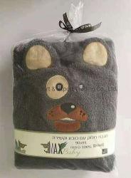 Großhandel 380GSM 100% Baumwolle Kapuzen Baby Badetuch