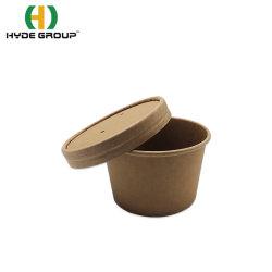 El papel de estraza tazas de Envasado de Alimentos Mantenga fresca y caliente para uso alimentario tazones de papel ecológicas