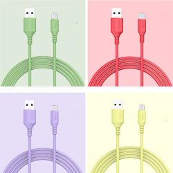Новые мягкие силиконовые USB типа C 3A Micro USB-кабель телефоне Android планшетный ПК с USB - быстрая зарядка мобильного телефона данные провод кабеля питания для S8 S9 примечание 10