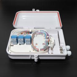 벽 마운트 48core 12port는 LC 접합기를 가진 광섬유 쪼개는 도구 종료 상자 FTTH 하락 케이블 배급 상자를 방수 처리한다