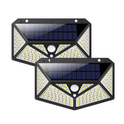 Lumières solaires Outdoor 150 conduit Zj 1 Pack 6 de l'éclairage côté solaire de sécurité du capteur de mouvement de plein air des feux de feux de l'énergie solaire des lampes solaires sans fil