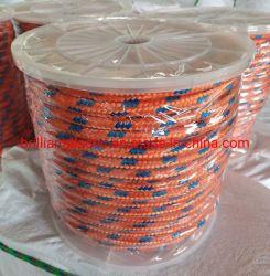 Hilo de nylon trenzado de diamantes de la cuerda, el PP trenzado sólidos plásticos de embalaje del carrete de la cuerda de plástico