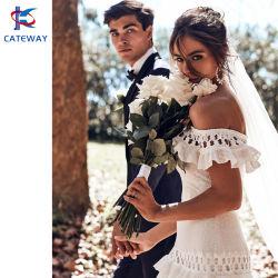 Großhandel Sommer Mode Hochzeitskleid Party Kleid Cocktail-Kleid Spitze Maxi-Kleid mit Häkelmuster für Damen/Herren