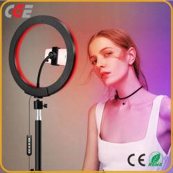 10дюйма 14дюйма 26см 36см яркости и цвета регулируемый циркуляр RGB живое шоу Tiktok макияж камера USB заполнения Selfie светодиодный индикатор кольца с штатив
